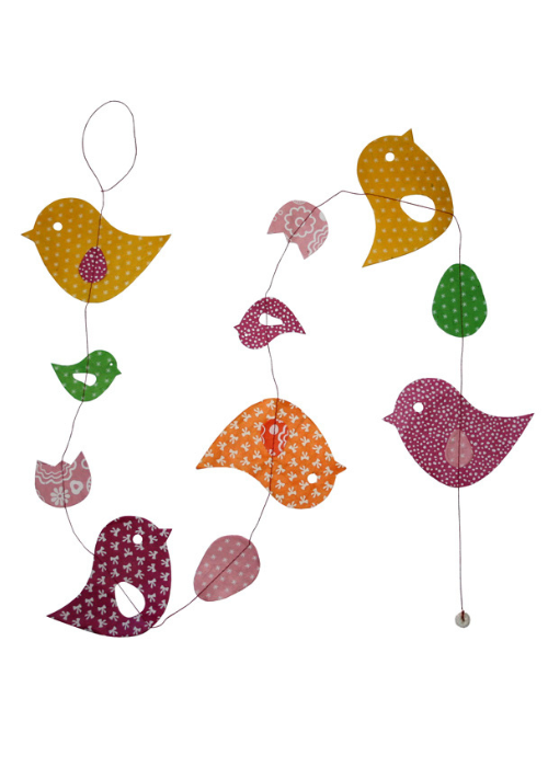 Hanging Garland Birdies - Liberties Papers