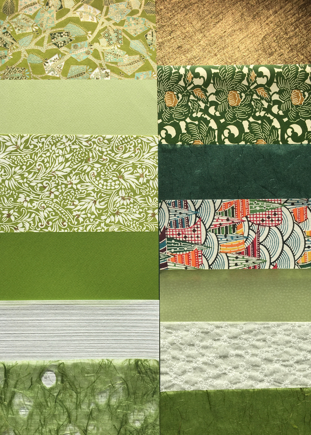 Decorative Papers Selection Pack - Green - Liberties Papers