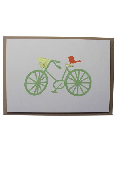 Greeting Card Bird on a Bike - Liberties Papers
