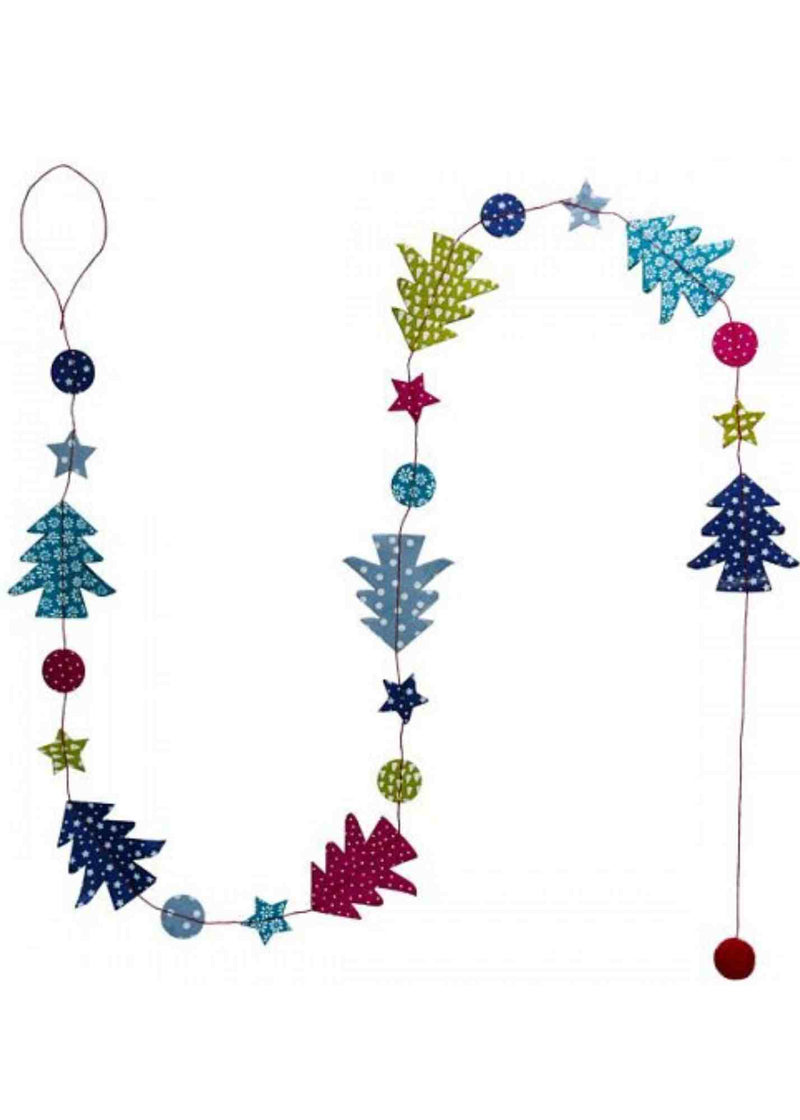 Hanging Garland Christmas Trees 'n Stars - Liberties Papers