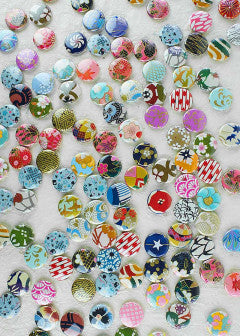 Chiyogami Button - Liberties Papers