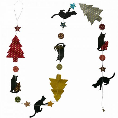 Hanging Garland Christmas Cats - Liberties Papers