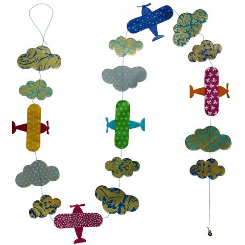 Hanging Garland Planes and Clouds - Liberties Papers