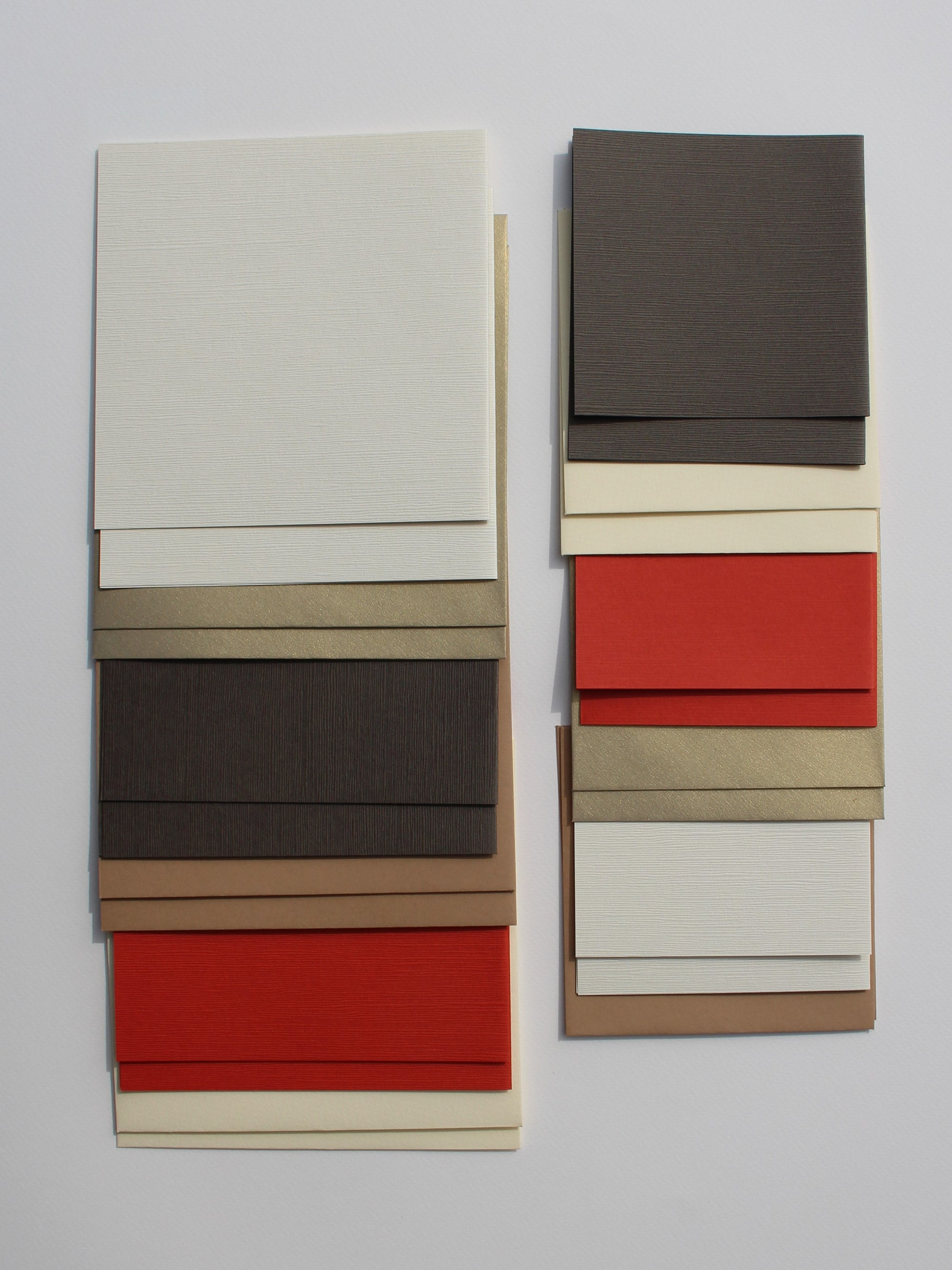 Japanese Linen Square Card Mixed Pack A - Liberties Papers