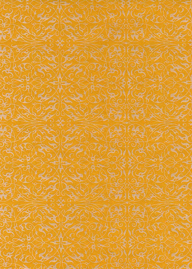Pearlised Filigree Mango - Liberties Papers