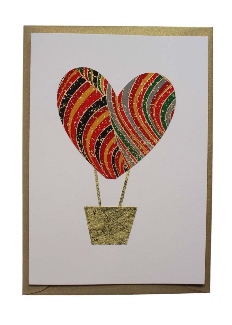 Greeting Card Hot Air Balloon - Liberties Papers