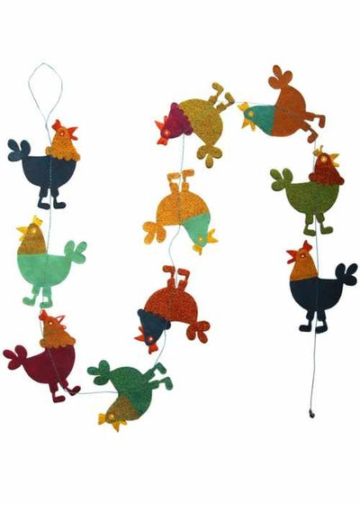 Hanging Garland Roosters - Liberties Papers