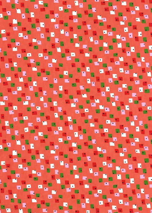 Chiyogami Squaredot Red - Liberties Papers