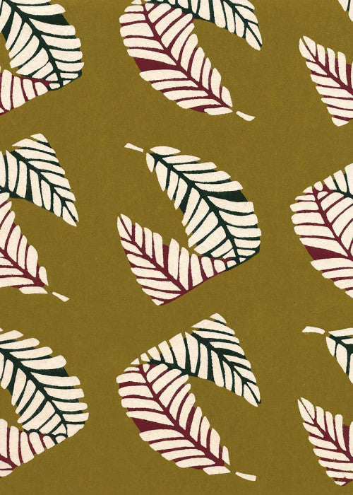 Katazome Shi - Palm  Olive - Liberties Papers