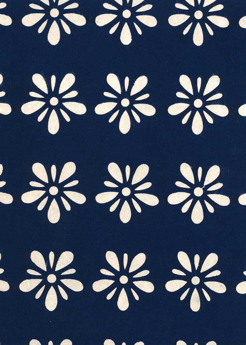 Katazome Shi - Indigo Flower - Liberties Papers