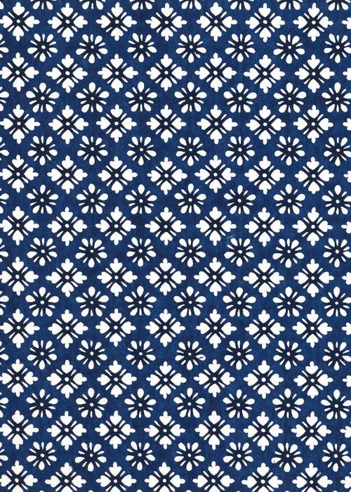 Katazome Shi - Indigo Lattice - Liberties Papers