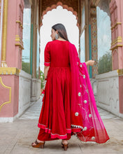 Load image into Gallery viewer, Red Pink Gotapatti Suit Set (2-5 weeks delivery)