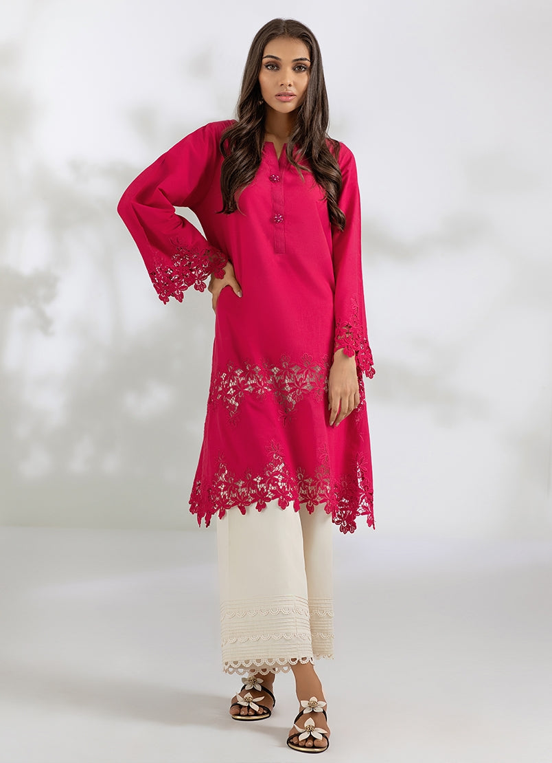 IN-BUILT LACE COTTON KURTI (2-5 weeks delivery)
