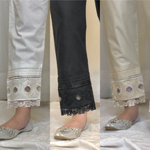 Load image into Gallery viewer, Cotton Embroidered Trouser (immediate dispatch)