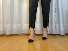 Load image into Gallery viewer, Scallop Trouser Black