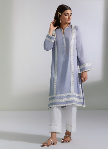 DRESSY LACE JACQUARD KURTA (2-5 weeks delivery)