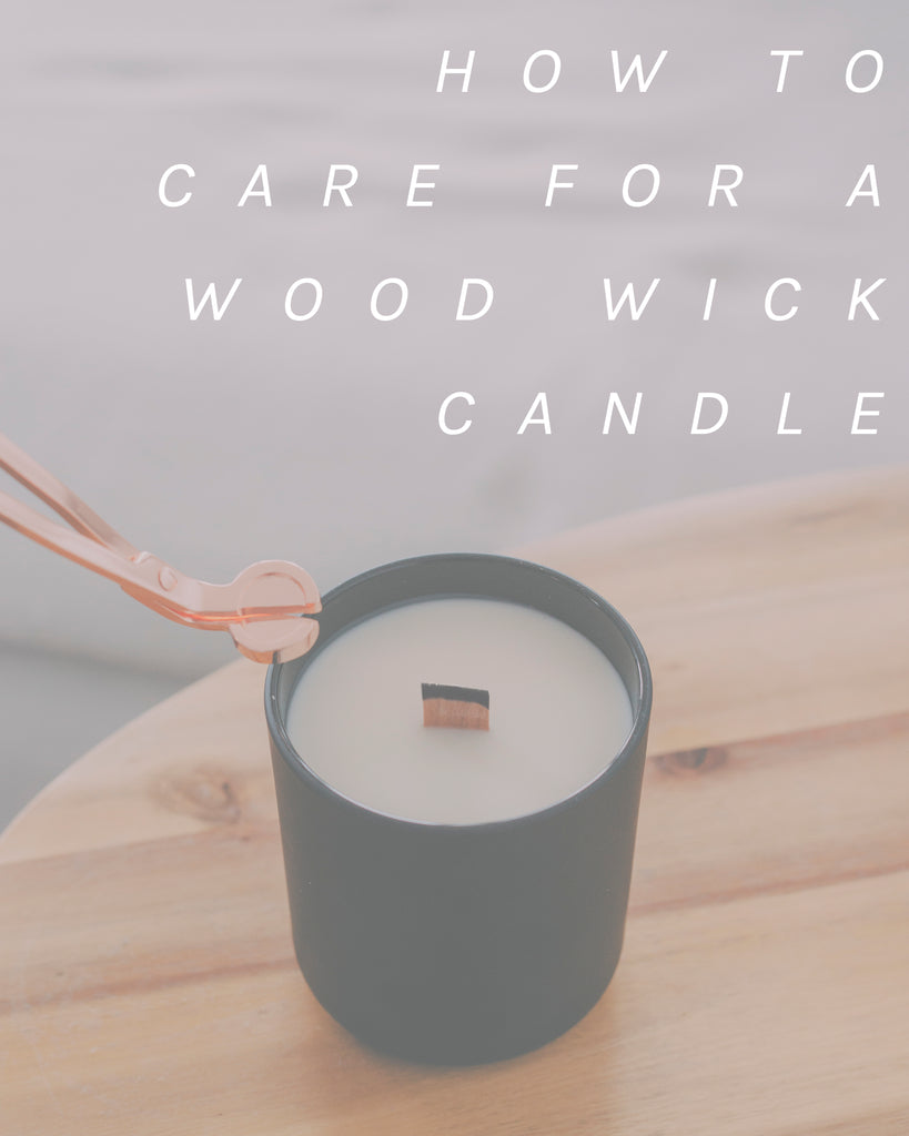 How to Care for A Wood Wick Candle