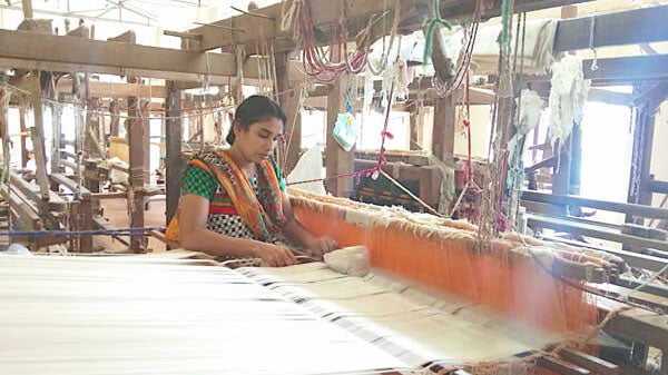 Linen Weavers from Kerala India