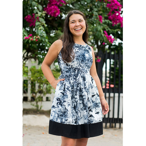 Party Dress - Marina Black-Organic