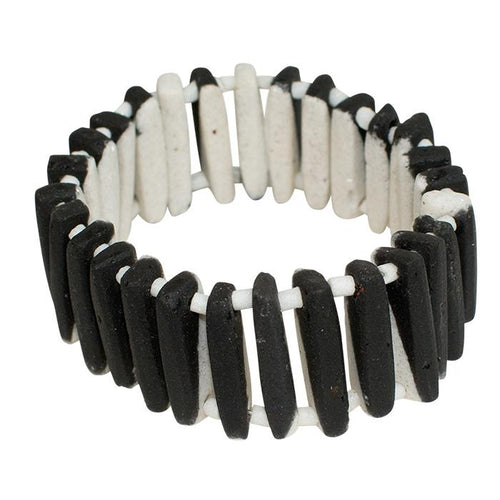 Key Bracelet Reversible Black & White