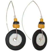 Load image into Gallery viewer, Full Circle Earring Black & Mustard