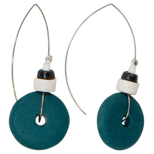 Full Circle Earring Blue