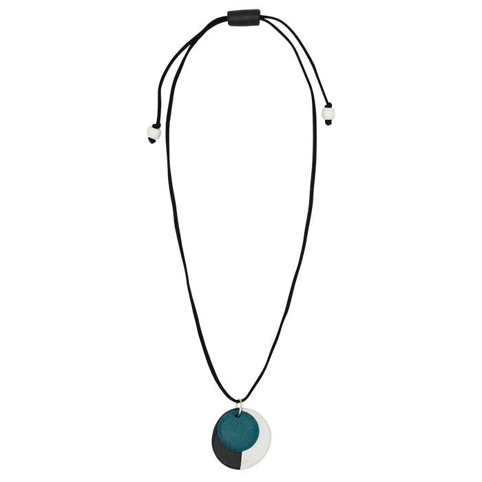 Full Circle Necklace Blue