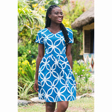 Load image into Gallery viewer, Verona Dress Blue