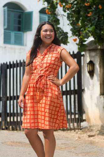 Retro Dress Tangerine