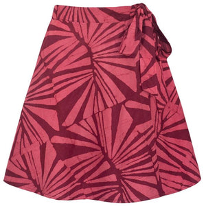 Wrap Skirt Bordeaux / Blue