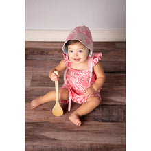Load image into Gallery viewer, Baby Bonnet Pink, Mustard & Blue