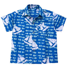 Load image into Gallery viewer, Short Sleeve Shirt Sailing Blue
