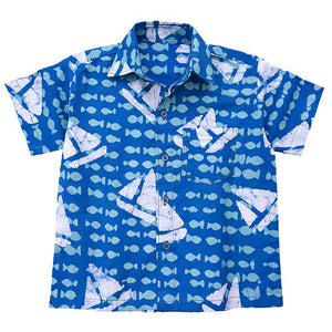 Short Sleeve Shirt Sailing Blue