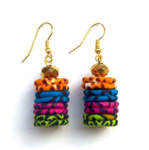 Funky Up-cycled Earrings