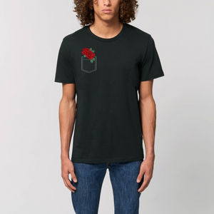Pocket Rose Unisex Tee (dark colors)