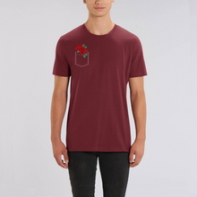 Load image into Gallery viewer, Pocket Rose Unisex Tee (dark colors)
