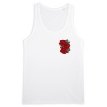 Load image into Gallery viewer, Rose Men Tank Top (Black/While)