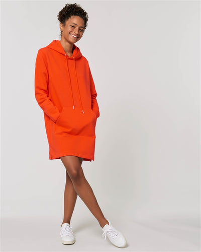 Hoodies Dress (Black/Orange)