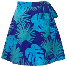 Load image into Gallery viewer, Wrap Skirt Bordeaux / Blue