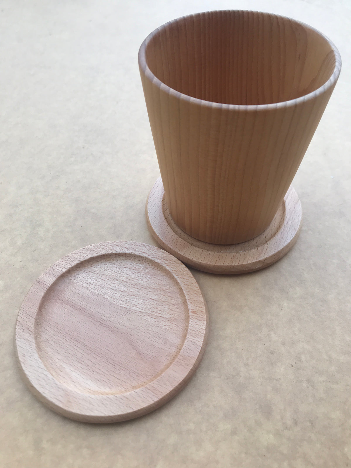 Custom wood coaster with engrave method