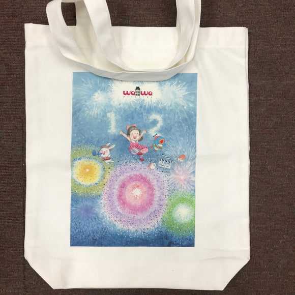 transfer printing on tote bag