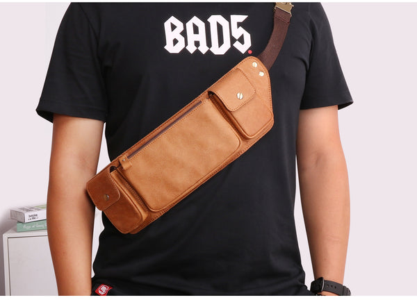 leather waist pouch