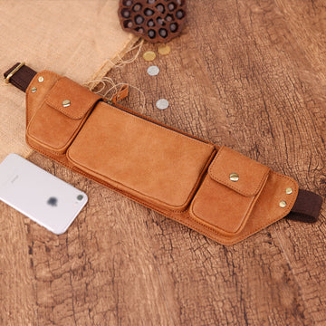 Custom Genuine Leather waist Pouch 01