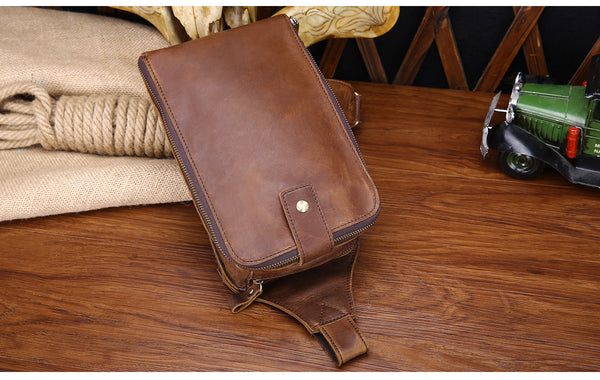 custom leather messenger bag