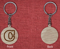 Solid wood keychain C