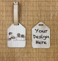 Custom wooden Luggage Tag 01