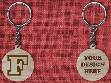 Solid wood keychain F