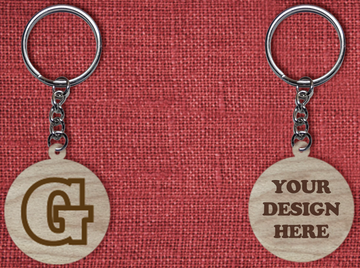 Solid wood keychain G