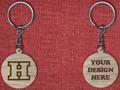 Solid wood keychain H