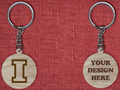 Solid wood keychain I